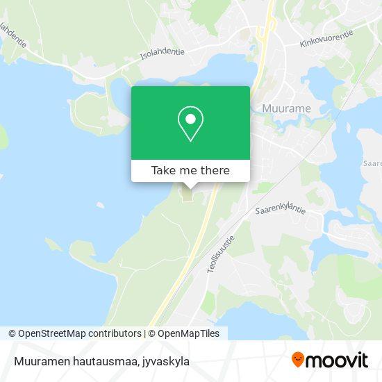 Muuramen hautausmaa map