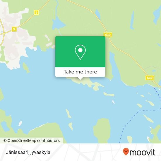 Jänissaari karta