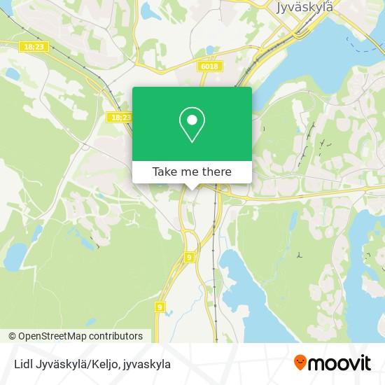 Lidl Jyväskylä/Keljo karta