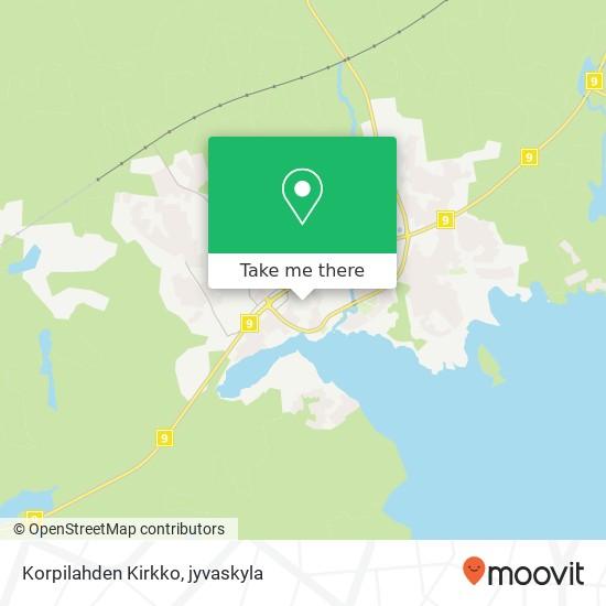 Korpilahden Kirkko karta