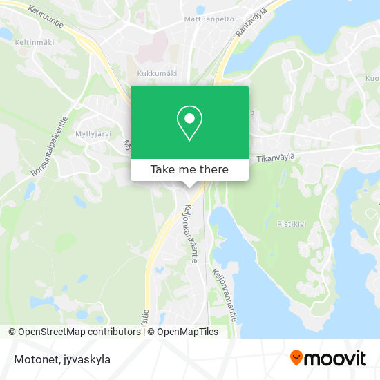 Motonet map