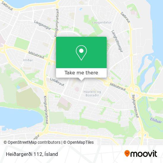 Heiðargerði 112 map