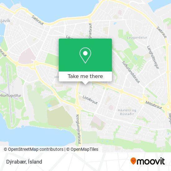 Dýrabær map