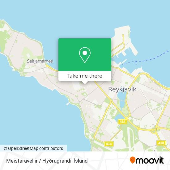 Meistaravellir / Flyðrugrandi map