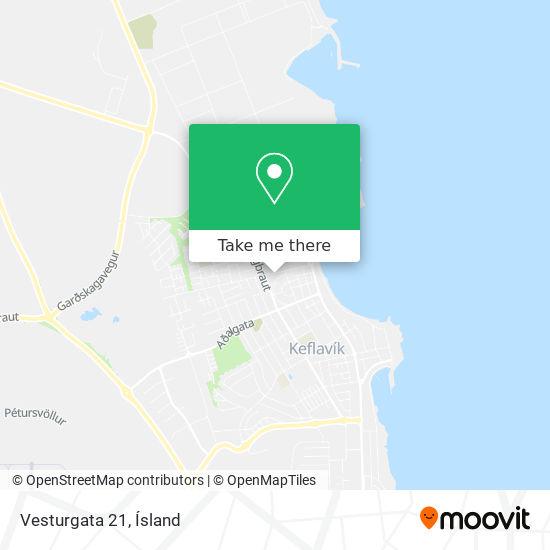 Vesturgata 21 map