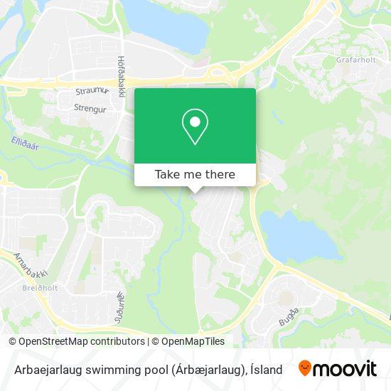Arbaejarlaug swimming pool (Árbæjarlaug) map