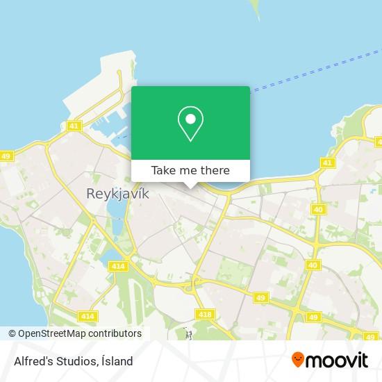 Alfred's Studios map