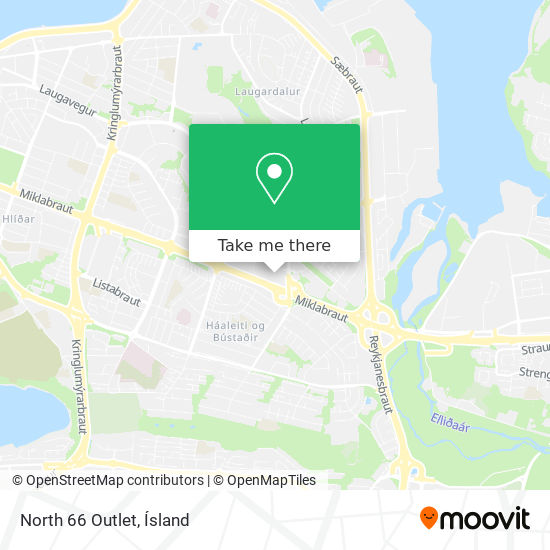 North 66 Outlet map
