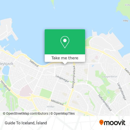 Guide To Iceland map