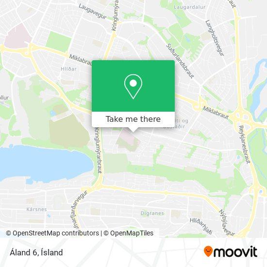 Áland 6 map