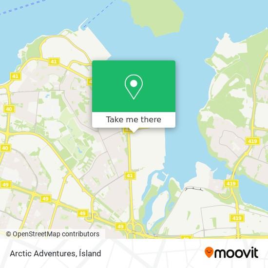 Arctic Adventures map