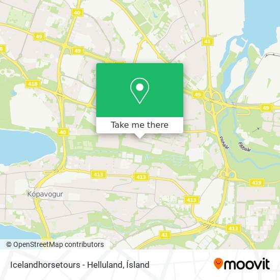 Icelandhorsetours - Helluland map