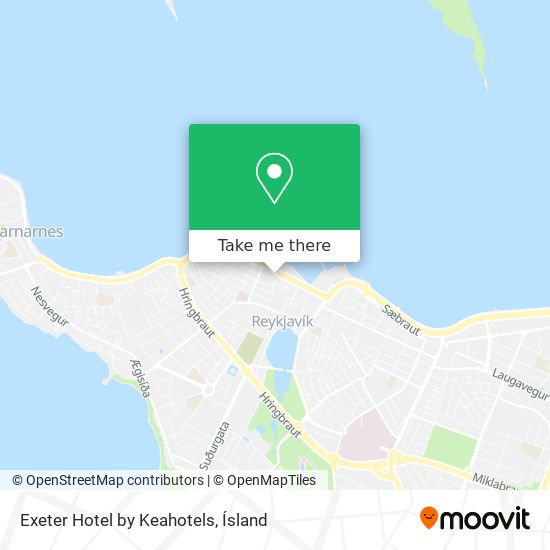Exeter Hotel by Keahotels map