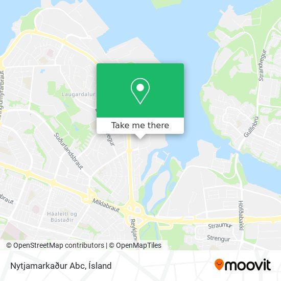 Nytjamarkaður Abc map