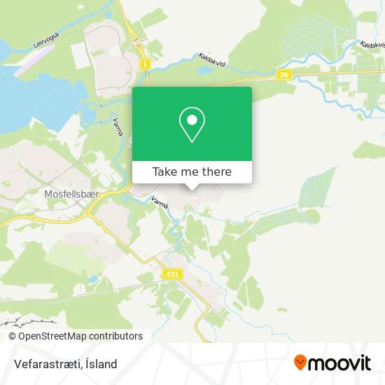 Vefarastræti map