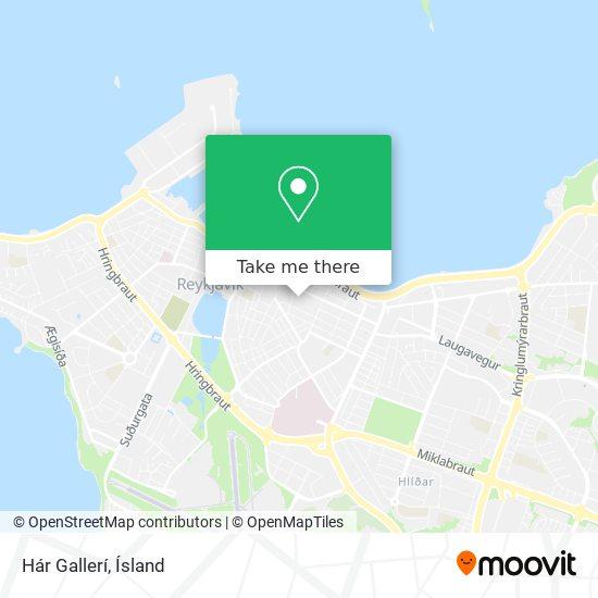 Hár Gallerí map