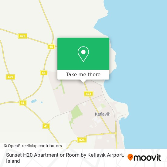 Sunset H20 Apartment or Room by Keflavik Airport map