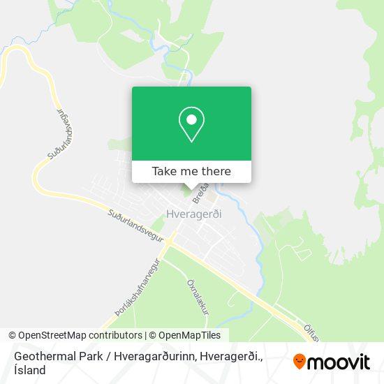 Geothermal Park / Hveragarðurinn, Hveragerði. map
