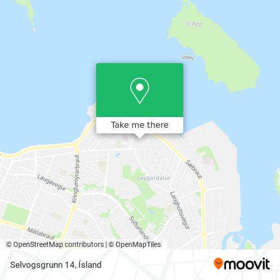 Selvogsgrunn 14 map