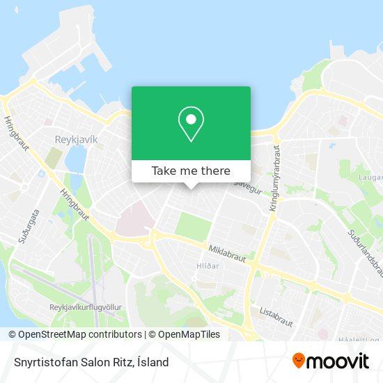 Snyrtistofan Salon Ritz map
