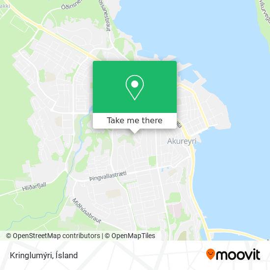 Kringlumýri map