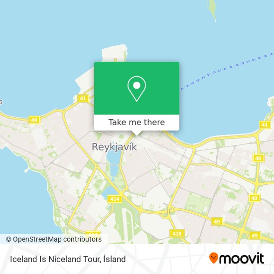 Iceland Is Niceland Tour map