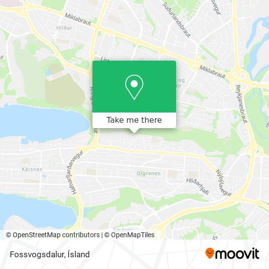 Fossvogsdalur map