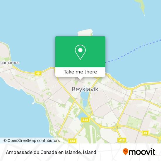 Ambassade du Canada en Islande map