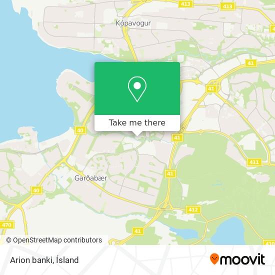 Arion banki map