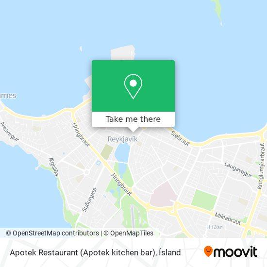 Apotek Restaurant (Apotek kitchen bar) map