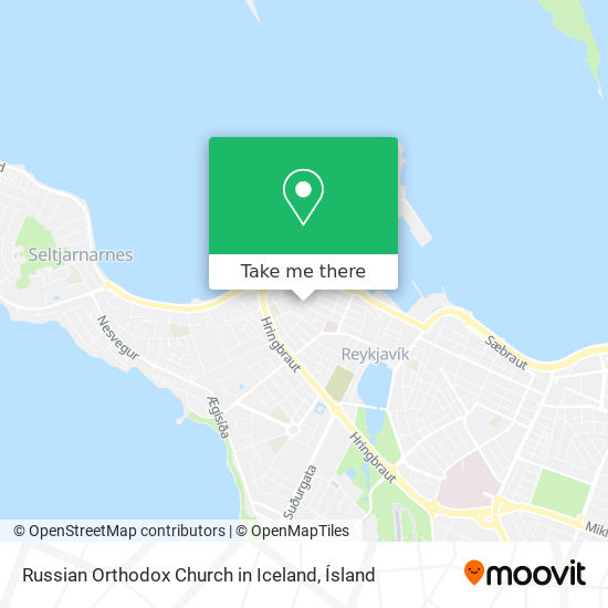 Russian Orthodox Church in Iceland map