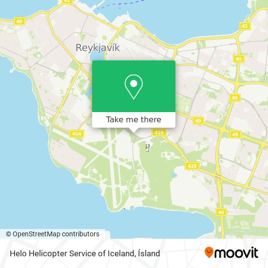 Helo Helicopter Service of Iceland map