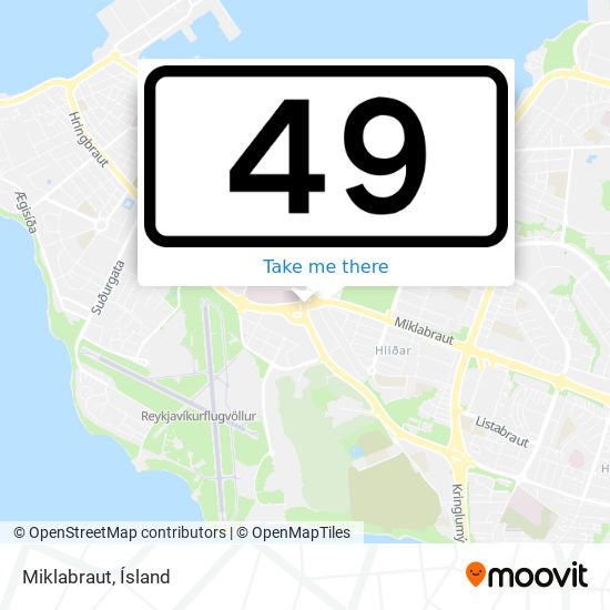 Miklabraut map