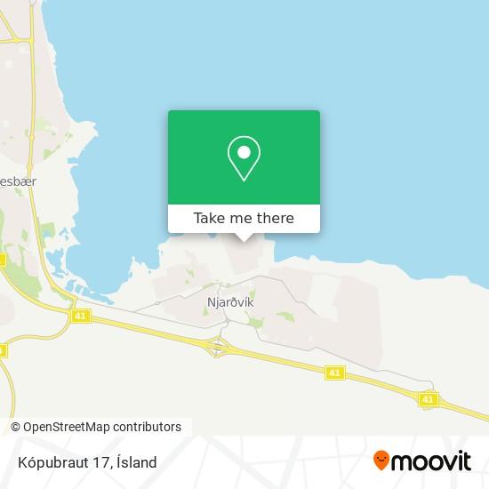 Kópubraut 17 map