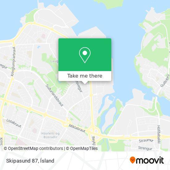 Skipasund 87 map