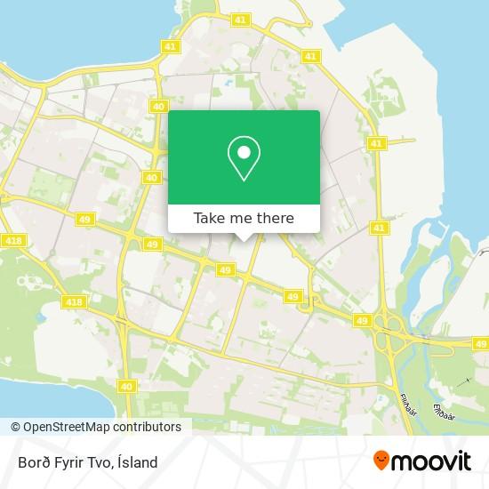 Borð Fyrir Tvo map