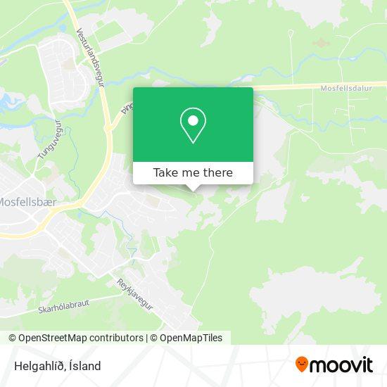 Helgahlíð map