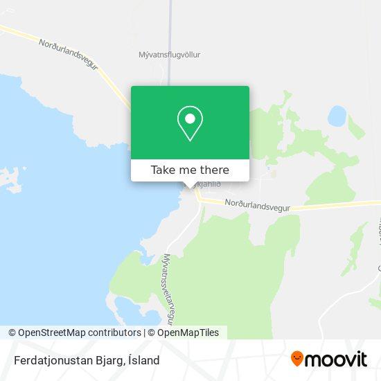 Ferdatjonustan Bjarg map