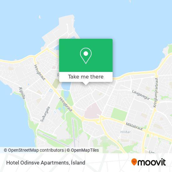 Hotel Odinsve Apartments map