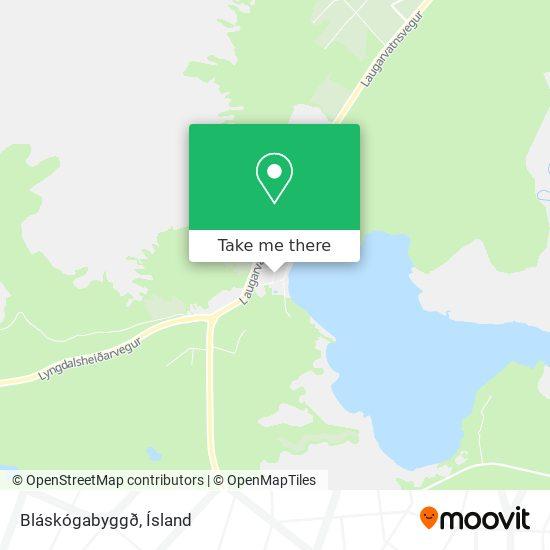 Bláskógabyggð map