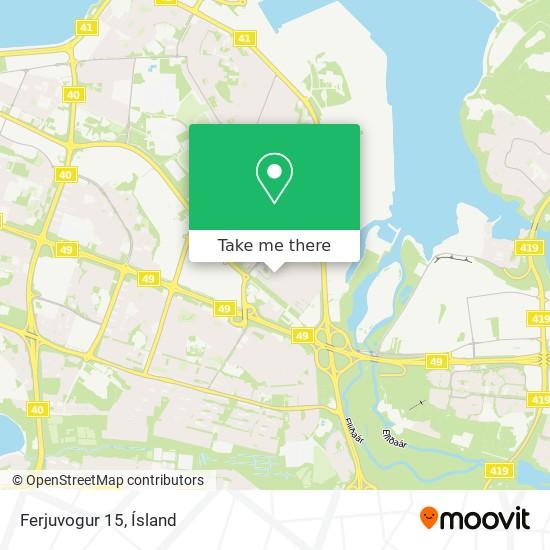 Ferjuvogur 15 map