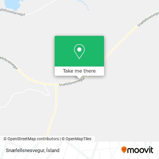 Snæfellsnesvegur map