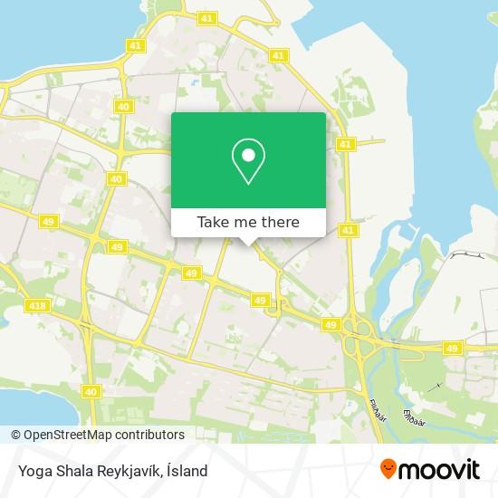Yoga Shala Reykjavík map