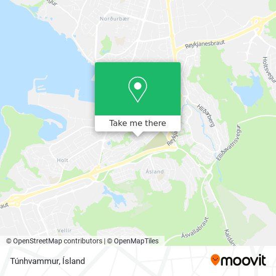 Túnhvammur map