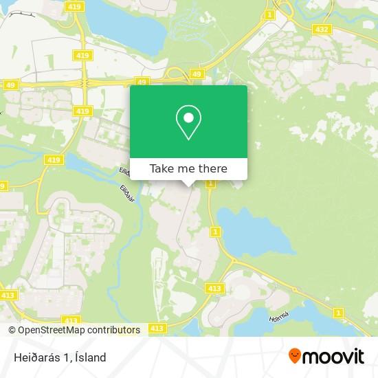 Heiðarás 1 map