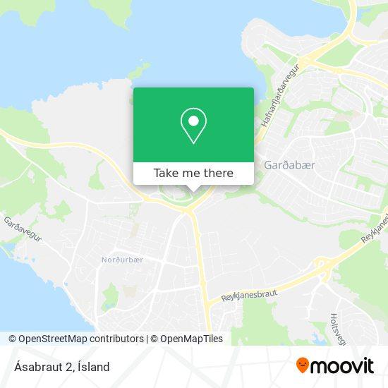 Ásabraut 2 map