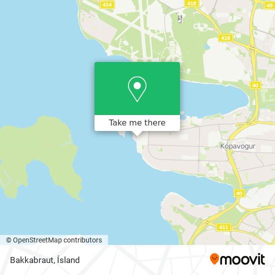 Bakkabraut map