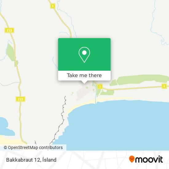 Bakkabraut 12 map