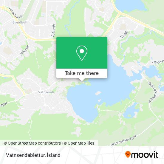 Vatnsendablettur map