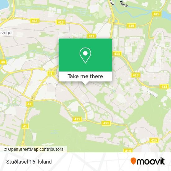 Stuðlasel 16 map
